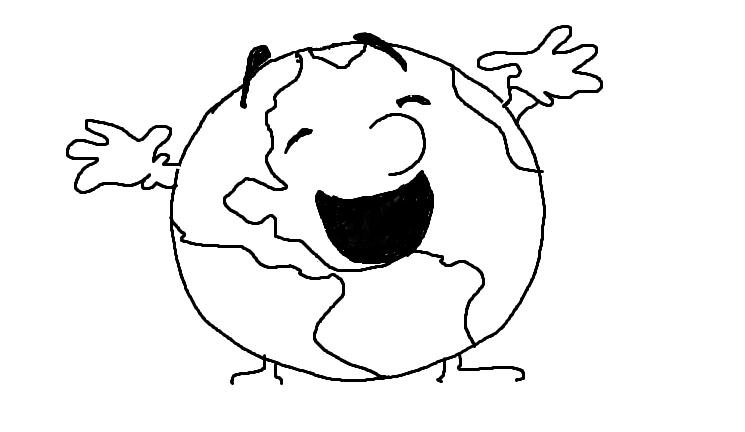 Make The World a Better Place Drawings Place Laughing World